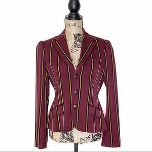 Vintage Rugby Ralph Lauren Striped Riding Blazer 6